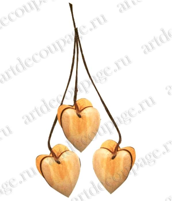 Заготовки для декупажа, подвеска деревянная Сердечко - магазин АртДекупаж