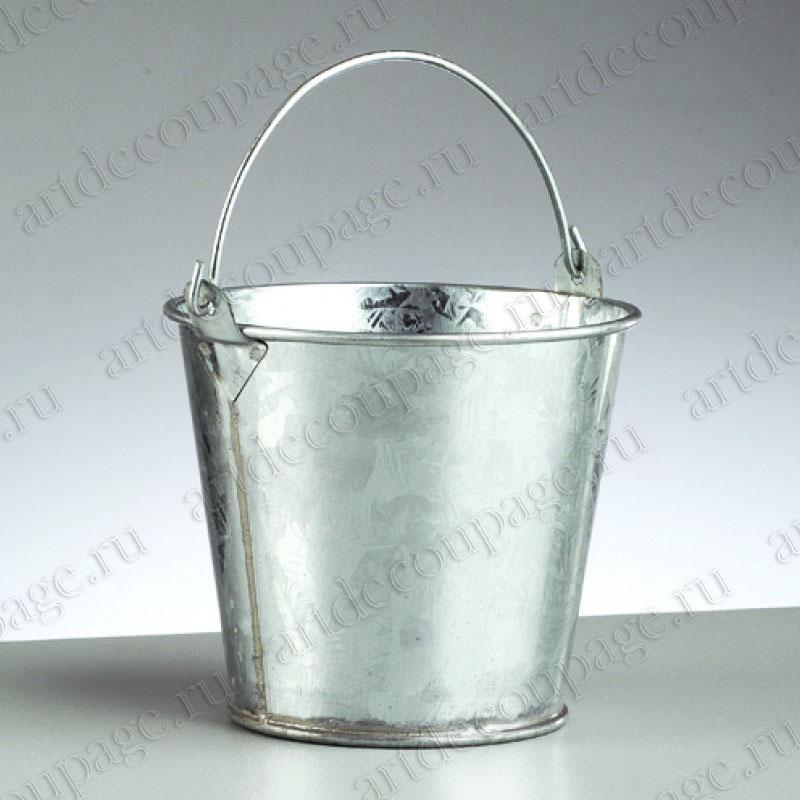 Маленькое металлическое ведерко для декоративных композиций, купить - магазин АртДекупаж
