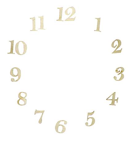 Деревянные цифры для часов, заготовки для декупажа и декора, купить