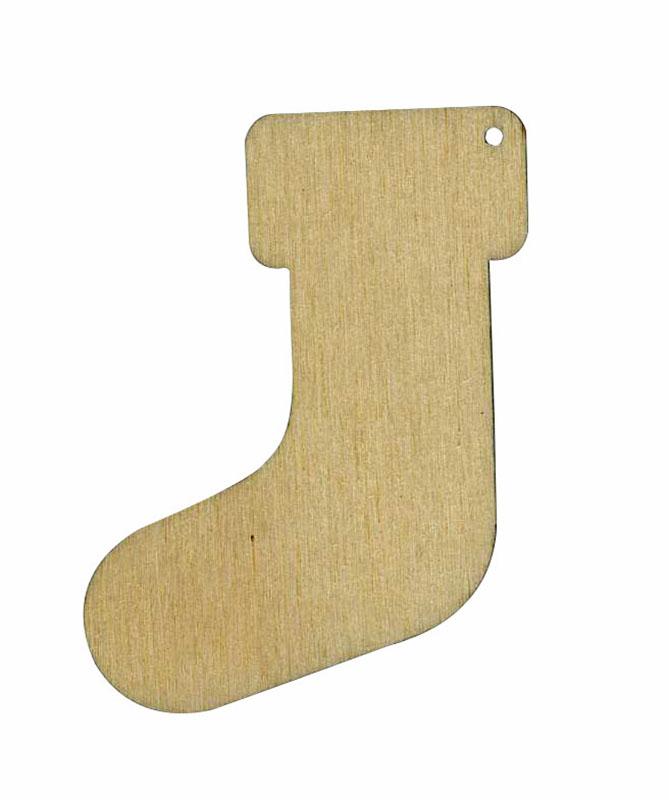 Накладная декоративная фигурка из фанеры Рождественский носок