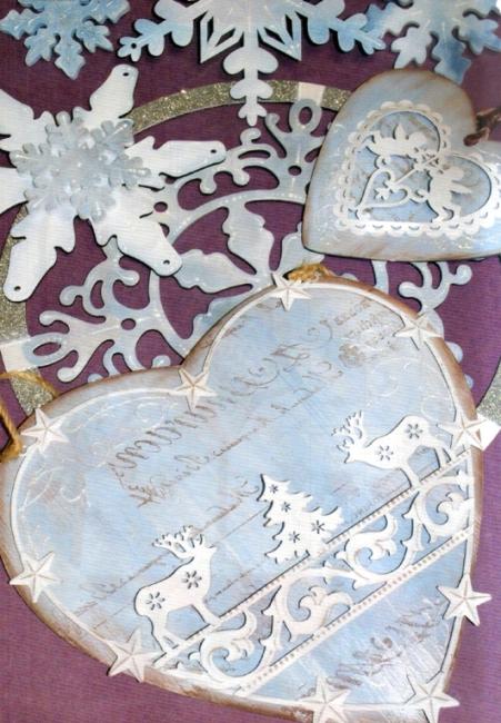 Декоративные элементы из металла Сердце резное KM68 Stamperia