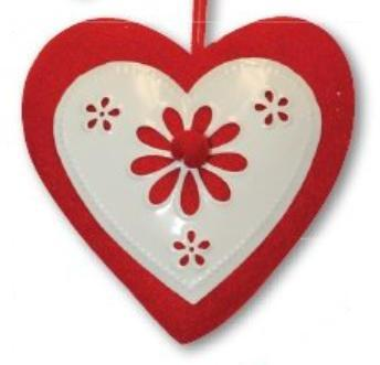 Заготовка Сердце на подвесе, фетр, купить